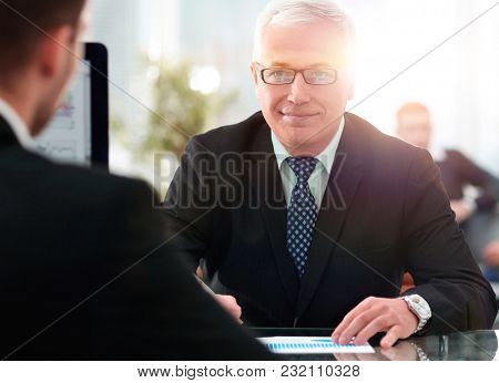 project Manager conducts an interview with a new employee