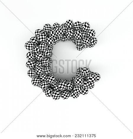 3D Render of  Alphabet Letter