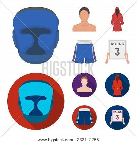Boxing, Sport, Mask, Helmet .boxing Set Collection Icons In Cartoon, Flat Style Vector Symbol Stock