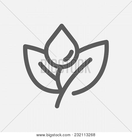 Oil Gas Plant Icon Line Symbol. Isolated Vector Illustration Of Leave Sign Concept For Your Web Site