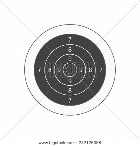 Board Target For Military Or Hunter Competition, Game, Hobby And Sniper Training. Vector Illustratio