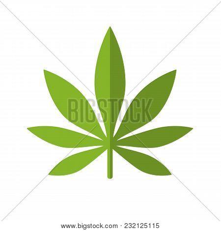 Marijuana Leaf Icon Logo Template. Health And Medical Therapy. Drug Consumption, Marijuana Use. Mari