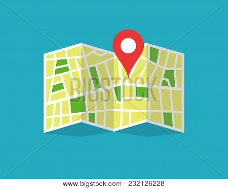 Location Map Icon. Location Map Abstract. Location Map Flat. Vector Illustration