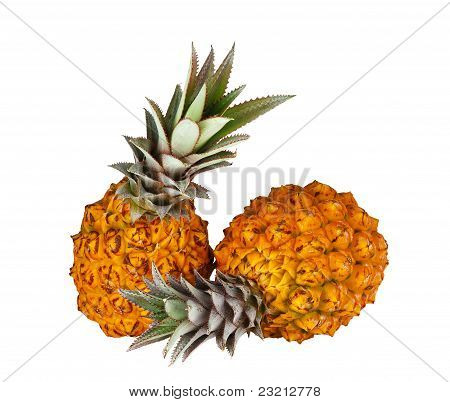 Two Fresh Juicy Pineapples
