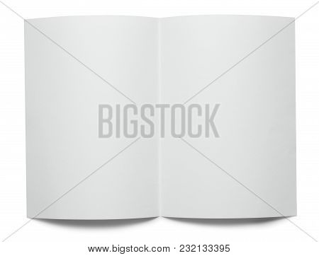 White Curled Sheet Of Paper On White Background