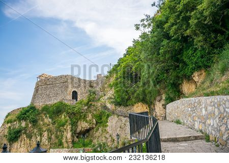 Ancient Steps Lead To The Old City. Ulcinj, Montenegro.