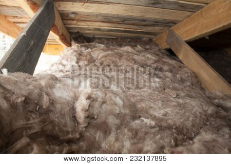 Mineral Wool Stack On Construction Site - Thermal Insulation Of A House Soft Eco-friendly Insulation