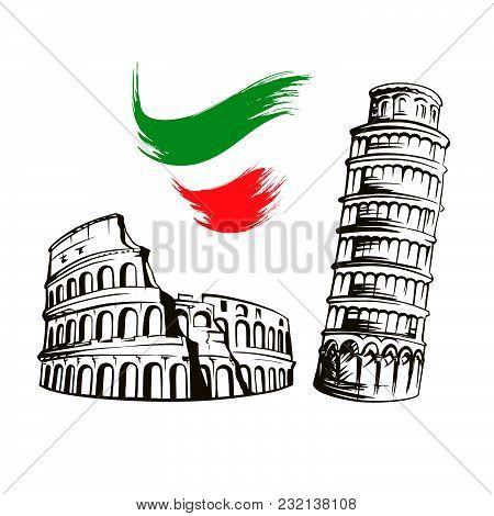 Italy Culture Symbols Italian Vector Photo Bigstock
