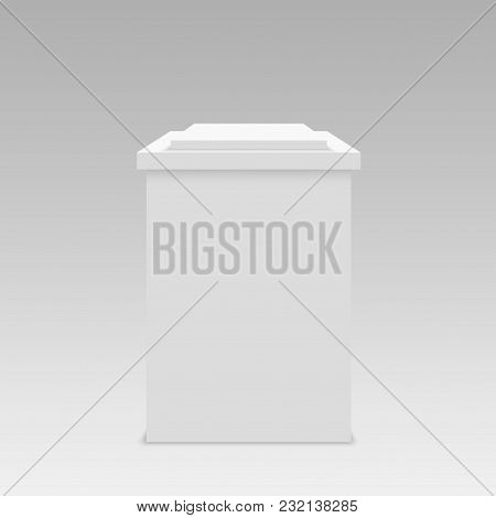 Stage Vector Backdrop On Grey. Vector Illustration.