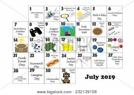 July 2019 Quirky Holidays And Unusual Events
