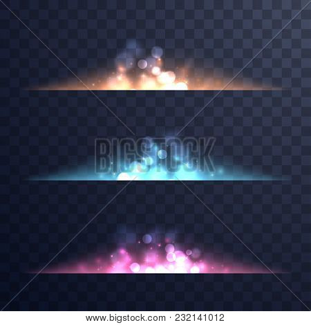 Abstract Magic Flares. Magic Lights And Sparkles Isolated On Transparent Background. Vibrant Light S