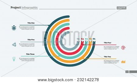 Circle Chart With Five Elements. Process Chart, Option Graph, Diagram. Creative Concept For Infograp