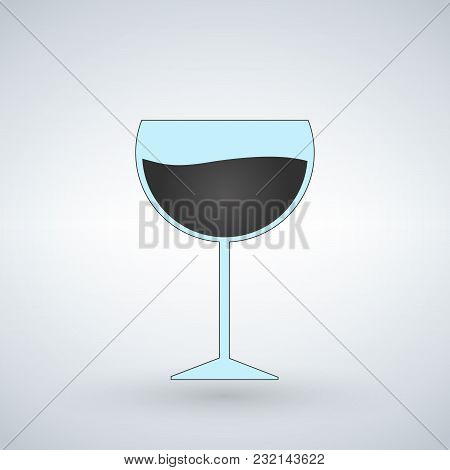 Wine Glass Vector Illustration Isolated On White Background