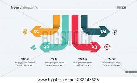 Four Arrow Infographic Diagram. Option Chart, Diagram, Infographics. Business Data. Creative Concept