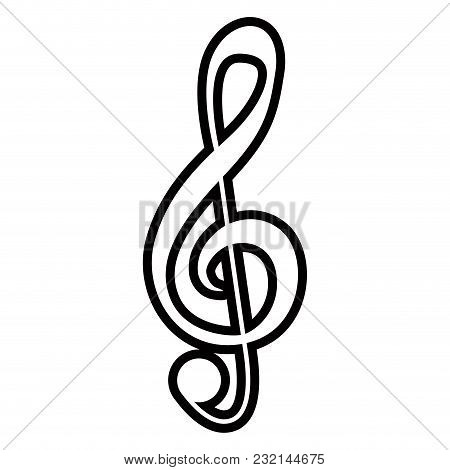 Isolated G-clef Musical Note. Vector Illustration Design