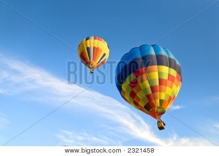 Hot Air Balloons And Clouds