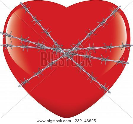 Heart Tied With Barbed Wire Heart Tied With Barbed Wire