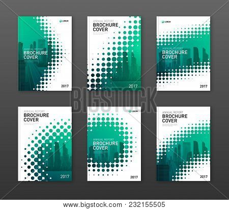 Brochure Cover Design Template For Construction Or Technology Company. Abstract Geometry With Colore