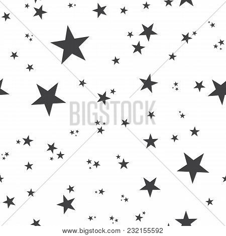 Seamless Pattern With Stars. Seamless Pattern With Stars For Web, Print, Wallpaper, Fashion Fabric,
