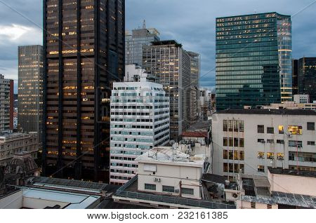 Commercial Office Buildings Of Downtown Rio De Janeiro City