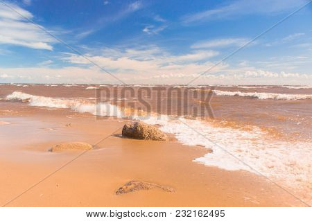 Stormy Scene On a Beach