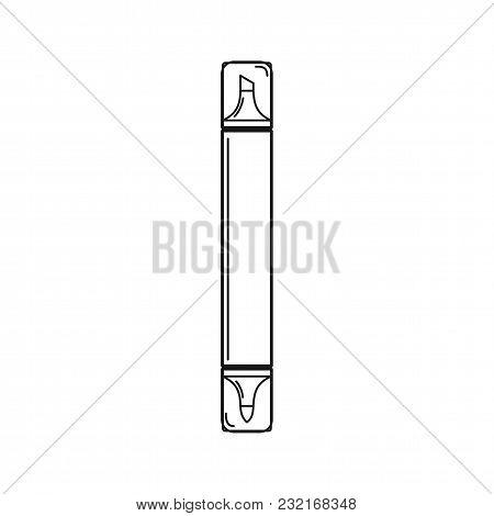 Line Dual Marker Pen Icon Vector Illustration