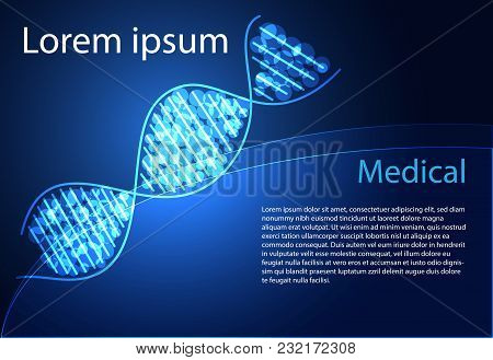 Abstract Health Medical Science Dna Digital Technology  Modern Medical Technology On Hi Tech Future