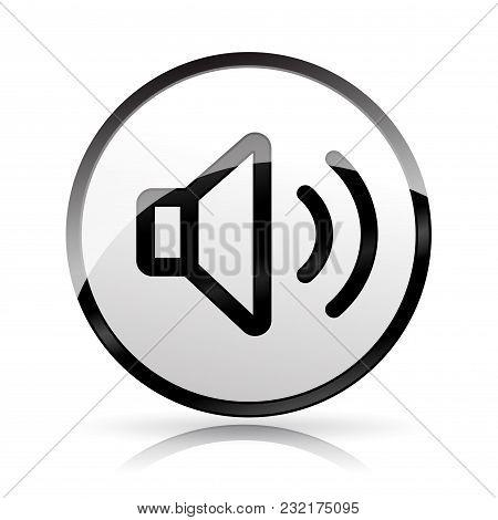 Illustration Of Sound Icon On White Background