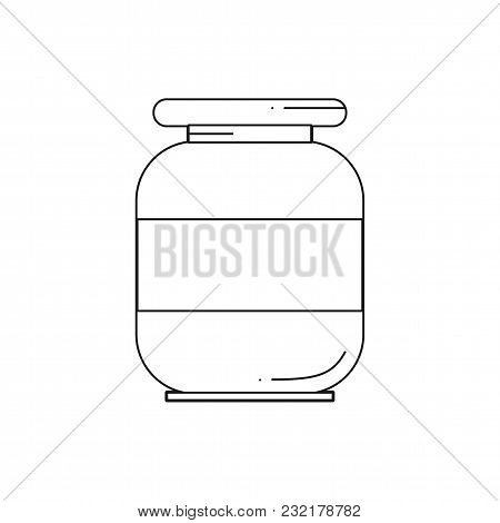 Line Oil Solvent Jar Icon Vector Illustration