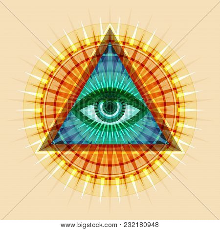 All-seeing Eye Of God (the Eye Of Providence | Eye Of Omniscience | Luminous Delta | Oculus Dei). An