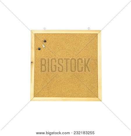 Closeup Brown Cork Board Isolated On White Background