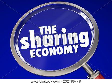 The Sharing Economy Working Job Tasks Gigs 3d Illustration