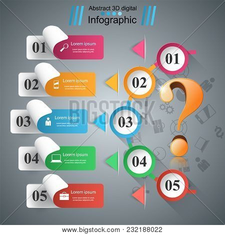 Business Paper Infographics. Question Mark. Vector Eps 10