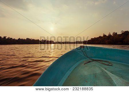 Beautiful View Of Lake Koggala, Sri Lanka, In The Sunny Evening
