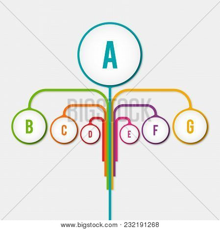 : Abstract Diagram Tree Infographic Elements Concept With Stage, Human, Parts Elements. Data Infogra