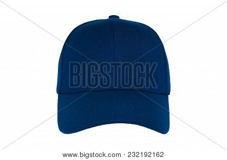 Baseball Cap Color Navy Close-up Of Front View On White Background