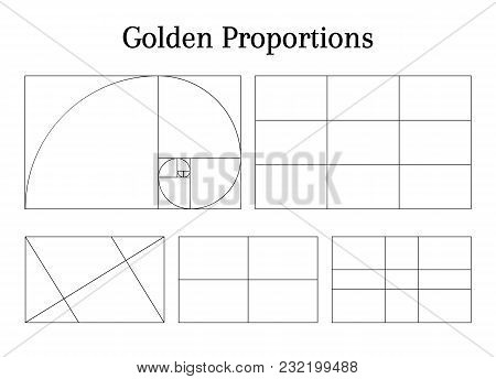 Composition Proportion Help Guidelines Set For Arrangement Adjusting