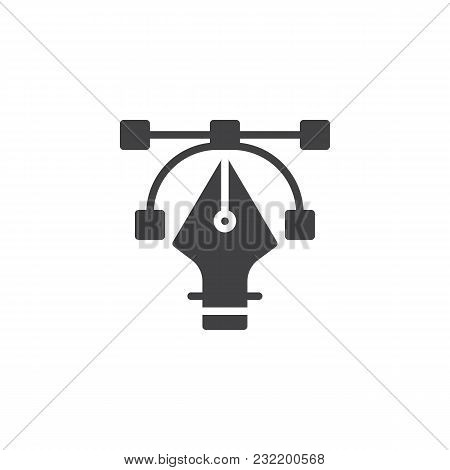 Fountain Pen Nib Vector Icon. Filled Flat Sign For Mobile Concept And Web Design. Drawing, Computer