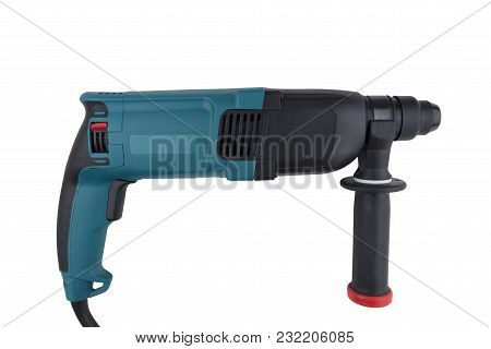 Manual Electric Drill-puncher Of Black And Turquoise Color For Professional Work In Construction, Is