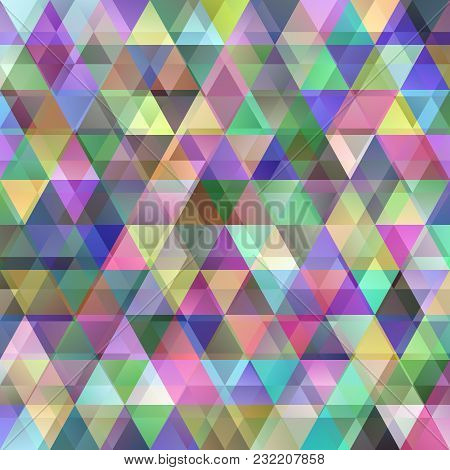 Geometrical Abstract Double Triangle Polygon Background - Vector Graphic Design