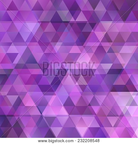 Purple Geometric Abstract Triangular Background With Opacity Effect - Vector Graphic
