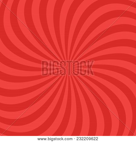 Red Abstract Spiral Ray Pattern Background - Vector Design