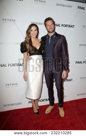 LOS ANGELES - FEB 19:  Elizabeth Chambers, Armie Hammer at the