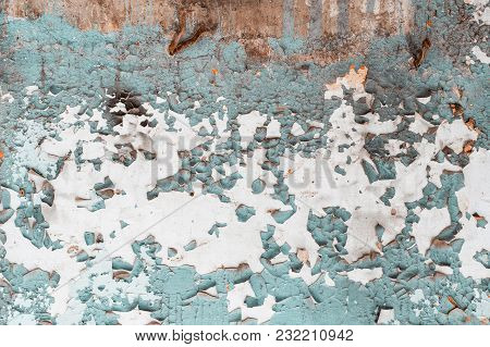Peeling Paint On The Wall. Abstract Background