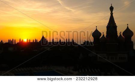 Hotel Kreml In Der Türkei Im Sonnenuntergang