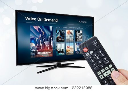 Video On Demand Vod Application Or Service On Smart Tv