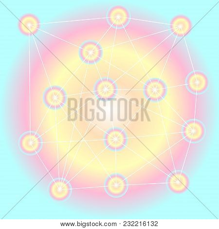 Abstract Pattern Of Colorful Circles In Pastel Colors (represent Multi-skills Or Variety Characteris