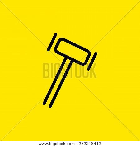 Line Icon Of Hammer. Gavel, Carpenter Shop, Auction. Service Concept. Can Be Used For Web Pictograms