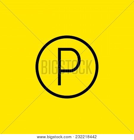Line Icon Of Parking Sign. Traffic Regulation, Private Car Park, Roadsigns Concept. Can Be Used For