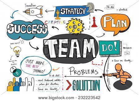 Team sketch illustration